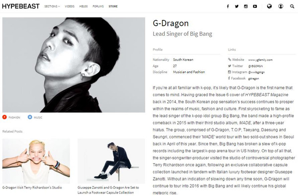 gdragon la nguoi han quoc duy nhat lot danh sach 100 nhan vat co anh huong nhat the gioi 2