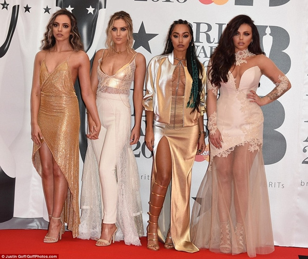thanh vien little mix chat vat che day vi so ho henh tren tham do brit awards 5