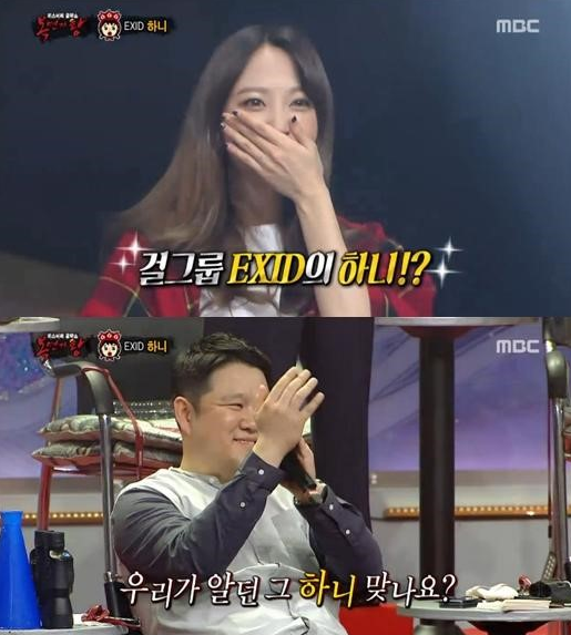 hani exid gay soc voi giong ca khung tai king of mask singer 3