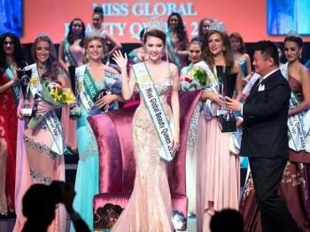"Lang le di thi, Ngoc Duyen bat ngo dang quang ""Miss Global Beauty Queen"" 2016"
