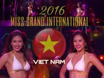 "Nguyen Thi Loan tron mat, lac vai day kho hieu tren san khau ""Miss Grand International"""