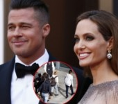 Cap doi Angelina Jolie - Brad Pitt hanh phuc ben cac con sau tin don ly than