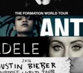"Adele, Justin Bieber, Beyonce hay Rihanna la cai ten co  ""World Tour"" hot nhat US-UK?"
